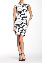 Julia Jordan Cap Sleeve Floral Bodycon Dress