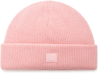 Acne Studios Kansy Appliqued Ribbed Wool-Blend Beanie