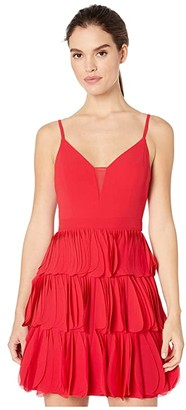 BCBGMAXAZRIA Eve Short Woven Dress (Rio Red) Women's Dress