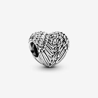 Pandora Angel Feathers Heart Charm