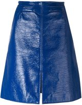 Courreges A-line skirt - women - Cotton/Polyurethane/Cupro - 36