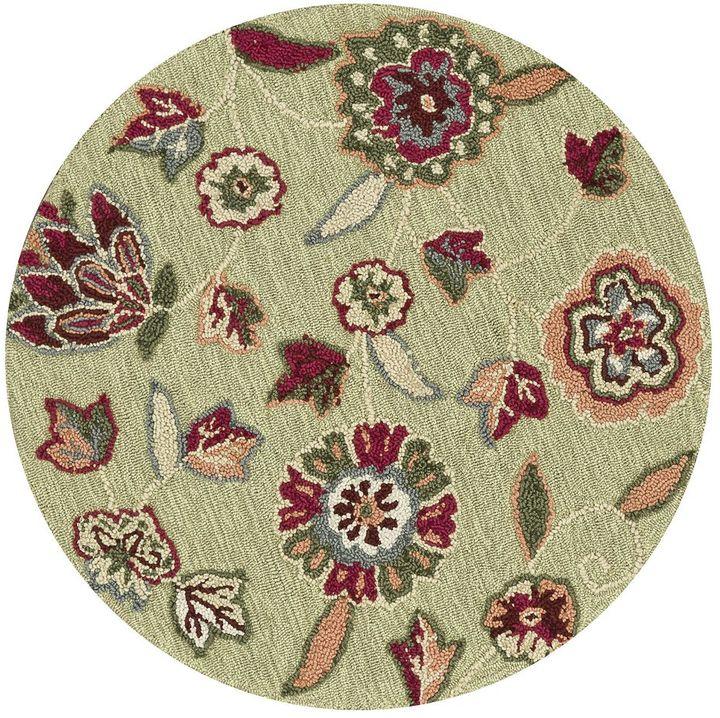Loloi juliana floral vine rug - 3' round