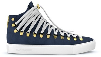 Swear Redchurch laced hi-top sneakers Fat track Personalisation