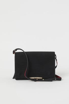 H&M Faux Suede Shoulder Bag - Black