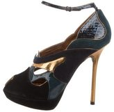 John Galliano Peep-Toe Platform Pumps