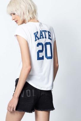Zadig & Voltaire Karta Kate Tunisian-Collar T-Shirt