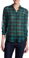 The Kooples Plaid Long Sleeve Shirt
