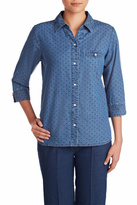 Allison Daley Navy Dot Blouse