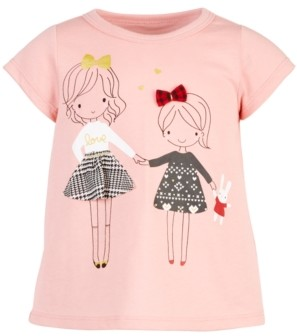First Impressions Toddler Girls Holiday Sisters T-Shirt, Created for Macy's