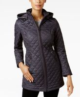 Laundry by Shelli Segal Petite Marled Quilted Coat