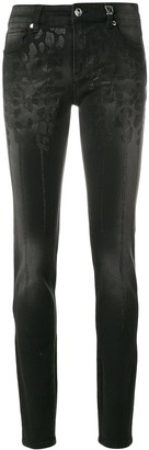 Versace Jeans Couture Leopard Crystal-Embellished Skinny Jeans