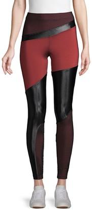 Koral Activewear Deuces Shantung High-Rise Leggings