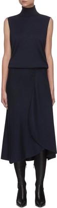 Victoria Beckham Turtleneck sleeveless midi dress