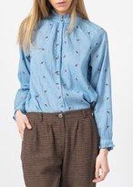 Indi \u0026 cold Indi & Cold Embroidered Buttondown Top Blue