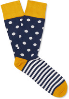 Corgi Patterned Cotton-Blend Socks
