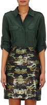 L'Agence Women's Alek Voile Safari Shirt-DARK GREEN