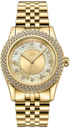 JBW 18K Gold Over Stainless Steel 1/8 CT. T.W Genuine Diamond 3-pc. Watch Boxed Set-J6368a