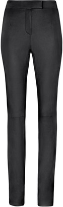 Fenty by Rihanna Leather skinny trousers with slits