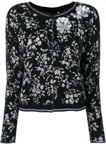 Twin-Set sequinned floral cardigan