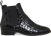 Office Bramble patent-leather chelsea boots
