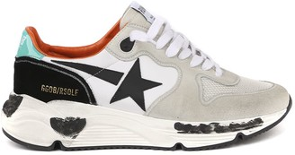 Golden Goose Suede & Nylon Running Sole Sneaker