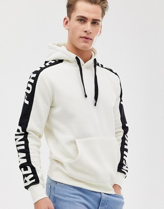 Jack and Jones panel taped over head hoodie
