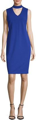 Calvin Klein Collection Sleeveless Choker Dress