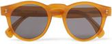 Illesteva Leonard Round-frame Acetate Sunglasses - Brown