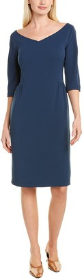 Lafayette 148 New York Shirred Sheath Dress