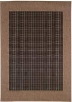 "Couristan Closeout! Area Rug, Indoor/Outdoor Recife Collection Checkered Field Black-Cocoa 2' 3"" x 7' 10"" Runner"