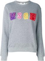 MSGM logo embroidered jumper