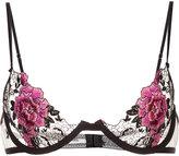 Fleur Du Mal Snake Charmer demi bra - women - Silk/Polyester - 32C
