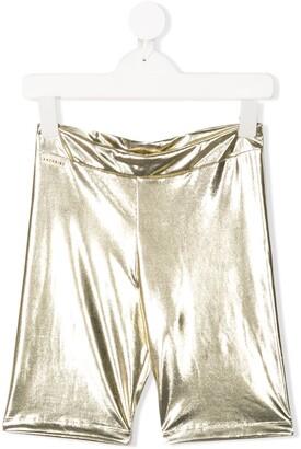 Andorine Metallic Biker Shorts
