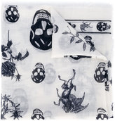 Alexander McQueen skull and badge scarf - men - Silk/Wool - One Size