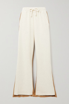 J.W.Anderson Paneled Cotton-terry And Jersey Track Pants