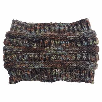 Weknowu Winter Knitted Headband - Women Chunky Knit Headbands Crochet Hair Band Ear Warmer Crochet Head Wraps Cable Knitted Hairband Coffee
