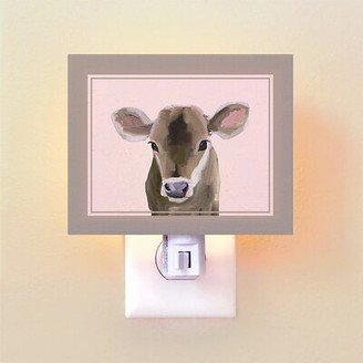 Oopsy Daisy Fine Art For Kids Baby Cow by Cathy Walters Night Light
