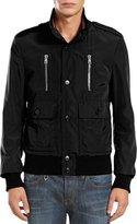Gucci Padded Iconic Bomber Jacket, Black