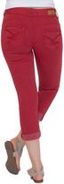 Amethyst Jeans Red Embellished Pocket Capri Jeans
