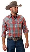Roper Western Shirts Mens L/S Plaid Snap Red 03-001-0062-0478 Re