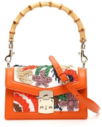 Miu Miu Embroidered Hemp Miu Confidential Medium Bag