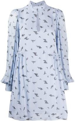 Ganni Floral Print Shift Dress