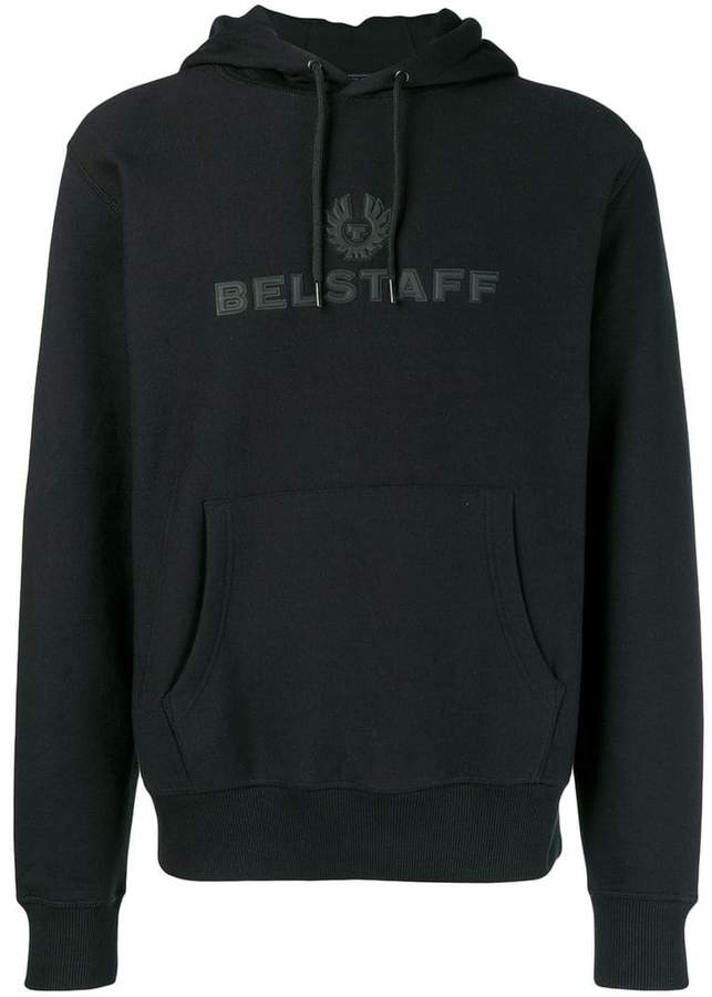 Belstaff logo hooded sweatshirt