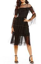 Gianni Bini Tae Mesh Midi Dress