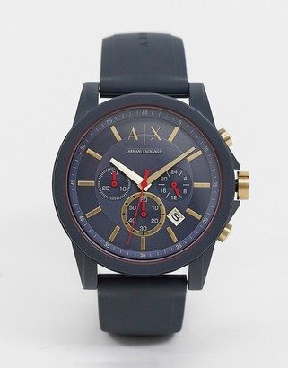 Armani Exchange outerbanks silicone watch AX1335
