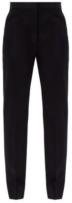 Jil Sander Mang Fleece-wool Gabardine Trousers - Navy