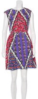 Peter Pilotto Abstract Print Silk Dress