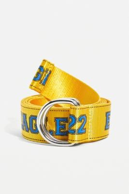 Urban Outfitters Varsity Eagles Belt - Yellow ALL at