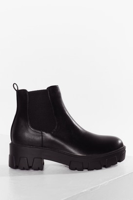 Nasty Gal Womens Step Up Your Game Cleated Chelsea Boots - Black - 3