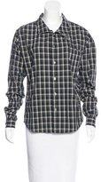 Opening Ceremony Plaid Button-Up Top